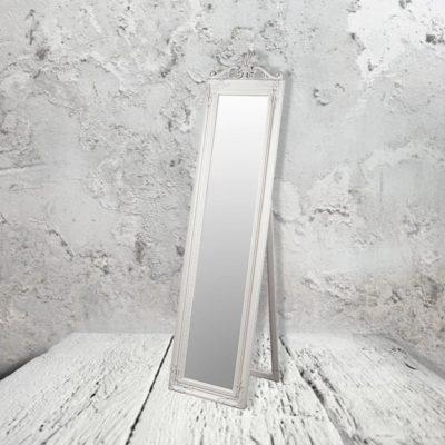 traditional creamfloor standing mirror