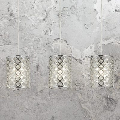 Crystal Glass 3 Light Pendant Bar