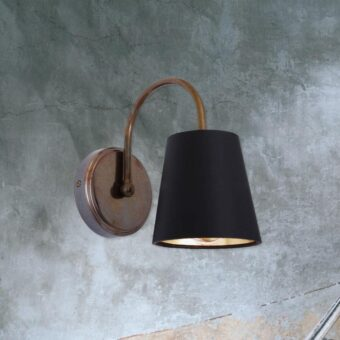 Curved Arm Hotel Wall Light