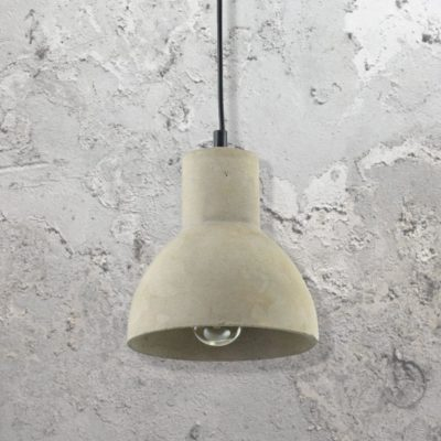 Curved Shade Concrete Pendant Light CL-34796