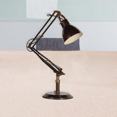Dark Brass Adjustable Desk Lamp