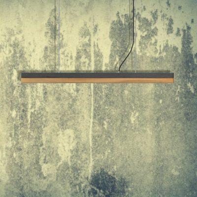 Dark Concrete Oak Commercial Lighting