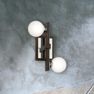 Designer Bronze Wood Wall Light