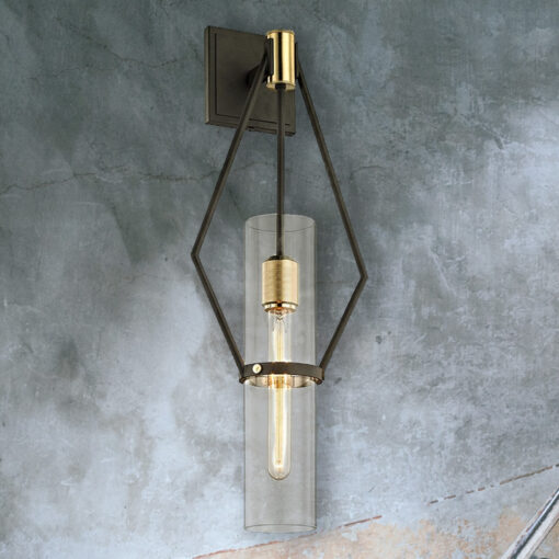 Designer Geometric Tubular Wall Light