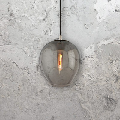 Designer Smoked Nickel Pendant Light