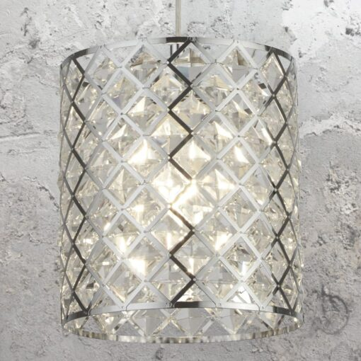 Diamond Crystal Glass Pendant Light