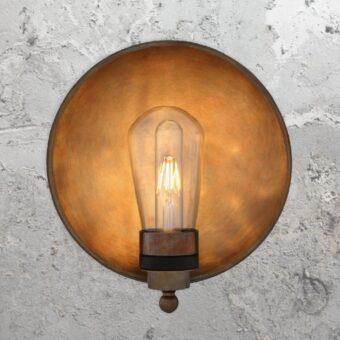 Dish Brass Outdoor Wall Light