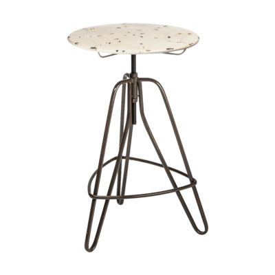 Distressed Cream Bar Table