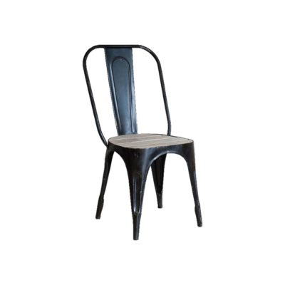 Distressed Iron Wooden Chair
