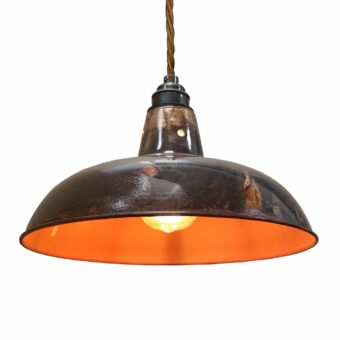 Distressed Lacquered Pendant Light