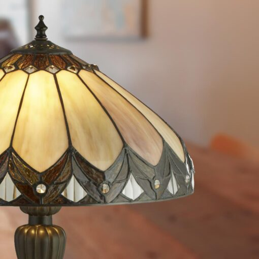 Dome Tiffany Glass Table Lamp