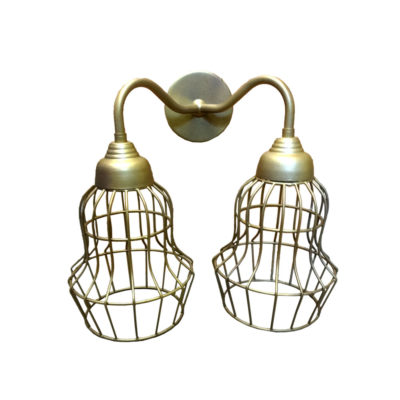 Double Cage Wall Light,Industrial Double wall light
