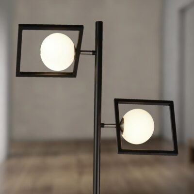 Double Globe Floor Lamp