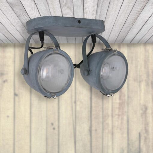 Double Industrial Grey Spotlight