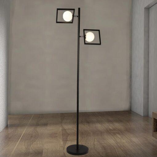 Double Opal Globe Floor Lamp