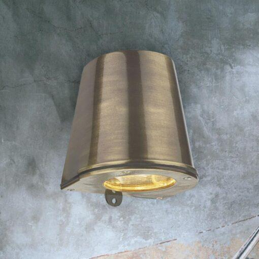 Downwards Antique Brass Marker Light