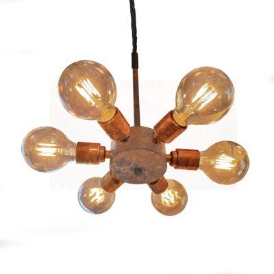Edison Multi Rusted 6 Light Pendant