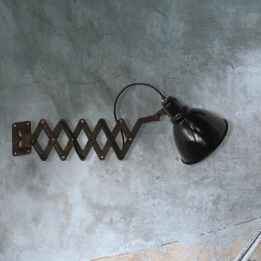 Black Enamel Scissor Wall Light
