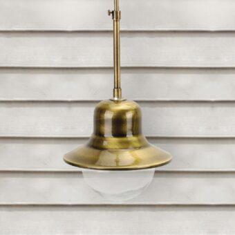 Exterior Brass Rod Pendant Light