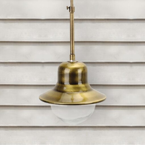 Exterior Brass Rod Pendant Light