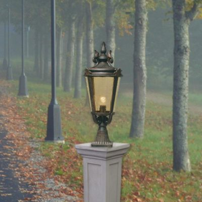 Exterior Bronze Pedestal Light