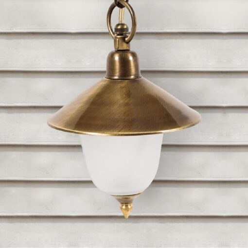 Exterior Frosted Glass Hanging Lantern