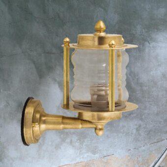 Exterior Solid Brass Wall Lantern