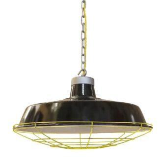 Factory Black Enamel Pendant Light