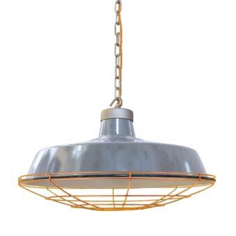 Factory Grey Enamel Pendant Light