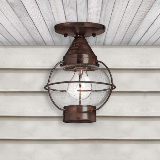 Solid Brass Round Exterior Glass Lantern