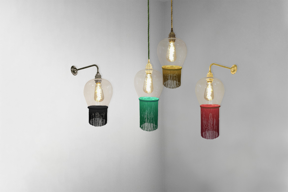 Fringe Glass Tassels Lighting