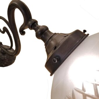 Frosted Glass Acorn Wall Light