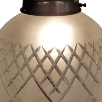 Frosted Glass Acorn Brass Pendant Light