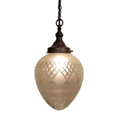 Frosted Glass Acorn Pendant Light