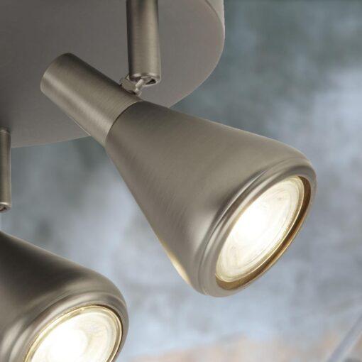 GU10 3 Light Antique Silver Spotlights