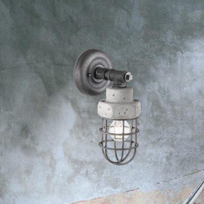 Galvanized Concrete Wall Light