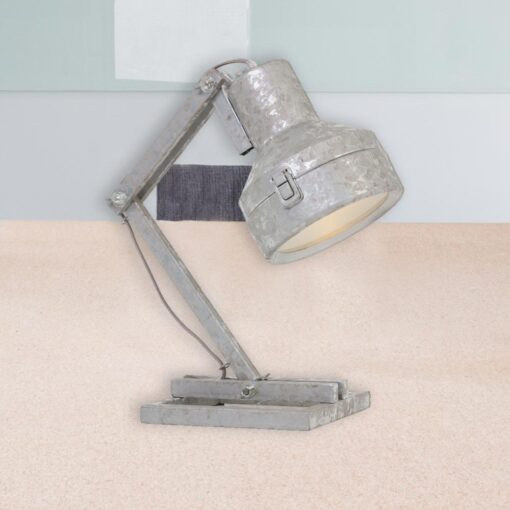 Galvanized Metal Table Lamp