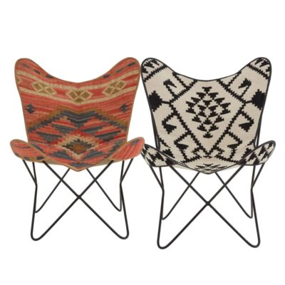 Geometric Aztec Print Butterfly Chair
