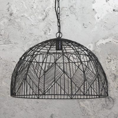 Geometric Black Wire Pendant Light