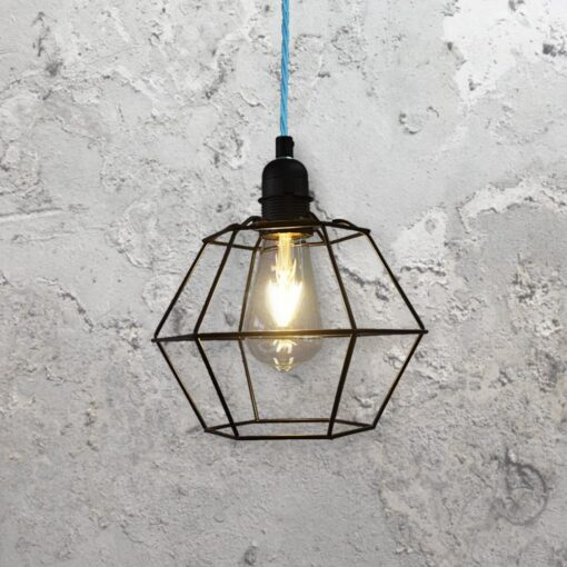 Geometric Wire Cage Light