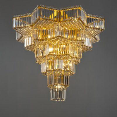 Geometric Crystal Flush Feature Light