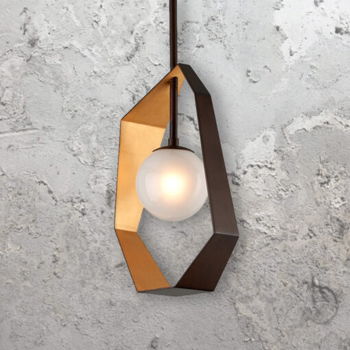 Geometric Globe Pendant Light