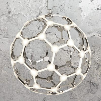 Geometric LED Globe Frame Pendant Light