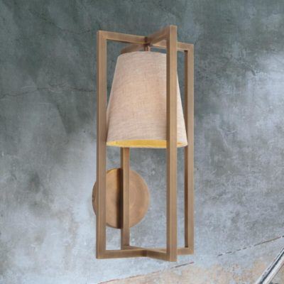 Geometric Wall Light with Shade