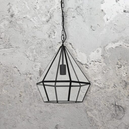 Glass Diamond Pendant Light