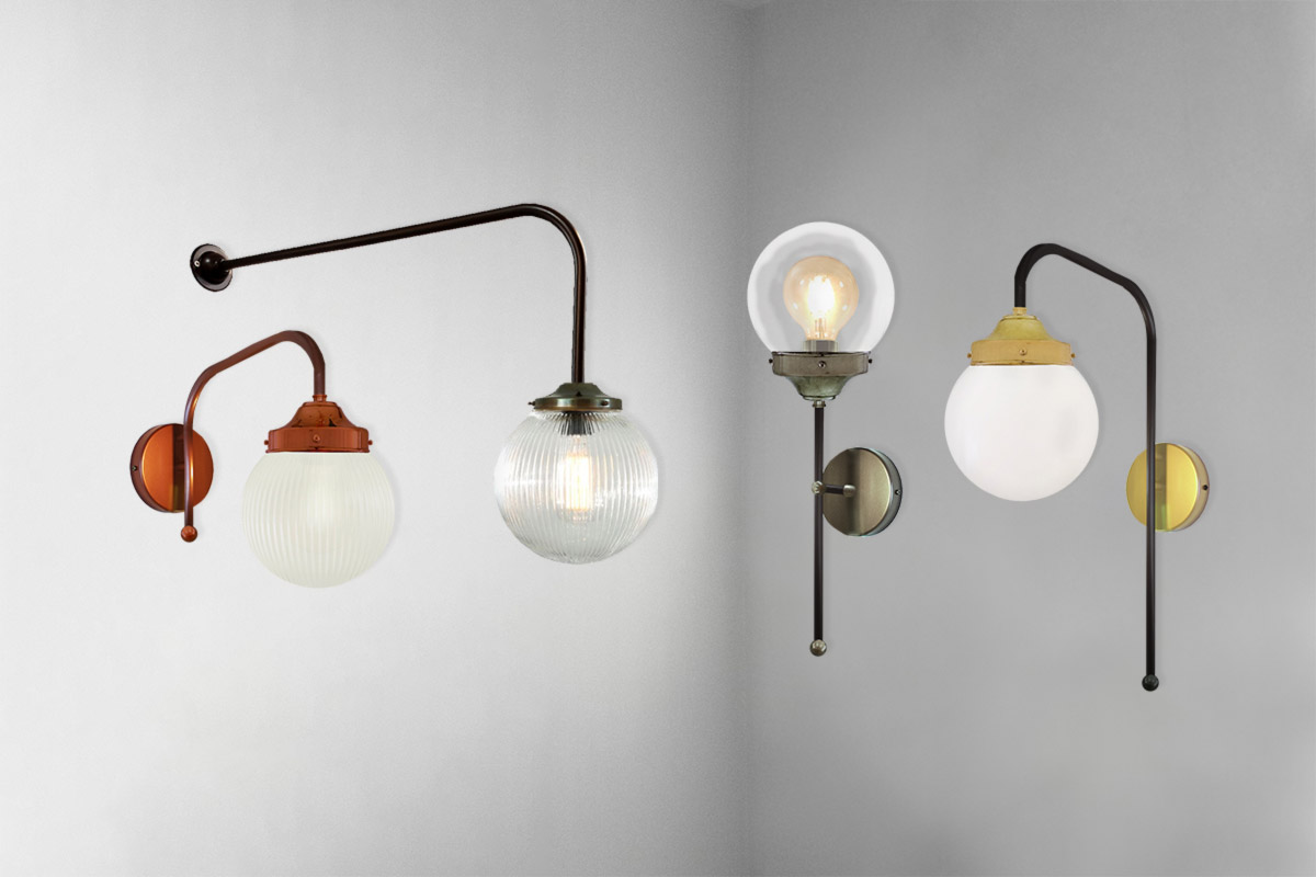 Glass Globe Wall Lighting