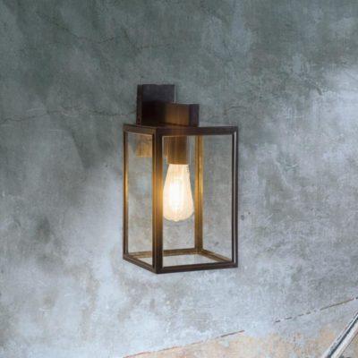 Glass Modern Black Outdoor Wall Light