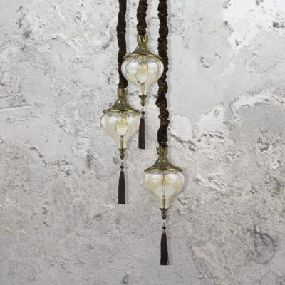 Glass Tassel Pendant Light