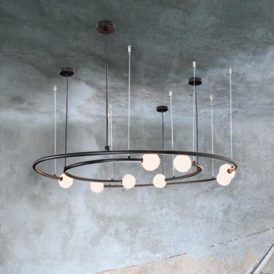 Globe Circles Ring Chandelier