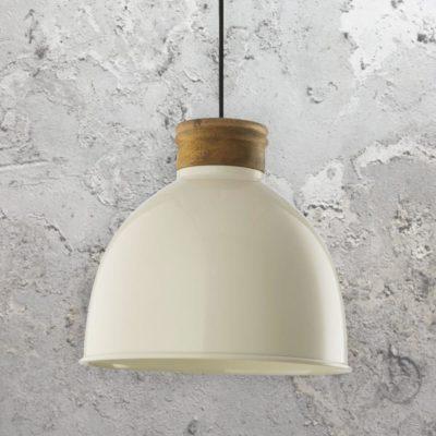 Gloss Metal Cream Pendant Light
